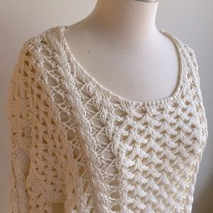 Zara Knit Loose Knit Ivory Sweater M